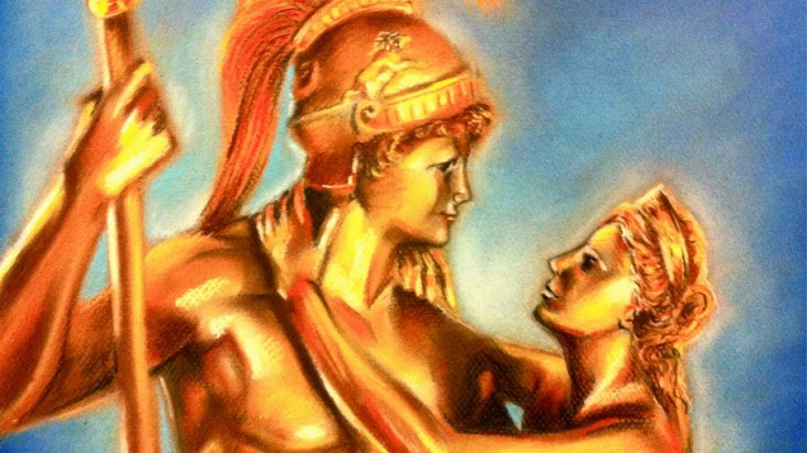 Two sides of the spectrum were in love - the God of War and the Goddess of Love were in love. Credits: Greek Mythology