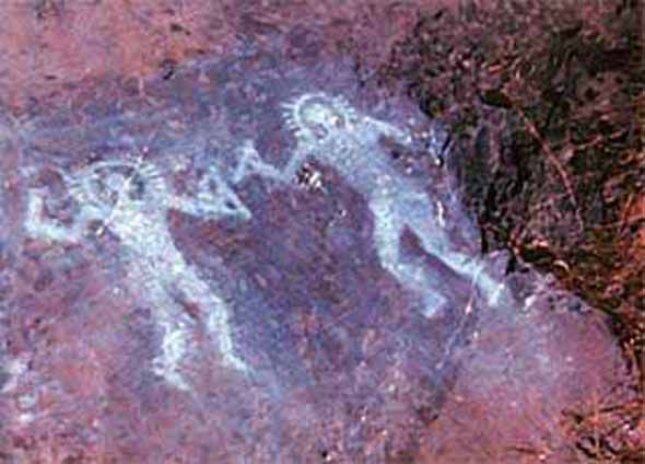 Are these ancient rock drawing PROOF that aliens visited Earth? | Science | News | Express.co.uk