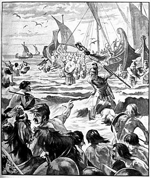 Landing of the Romans on the Coast of Kent